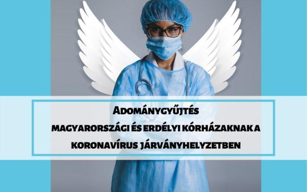 Adománygyűjtés magyarországi és erdélyi kórházaknak a koronavírus járványhelyzetben